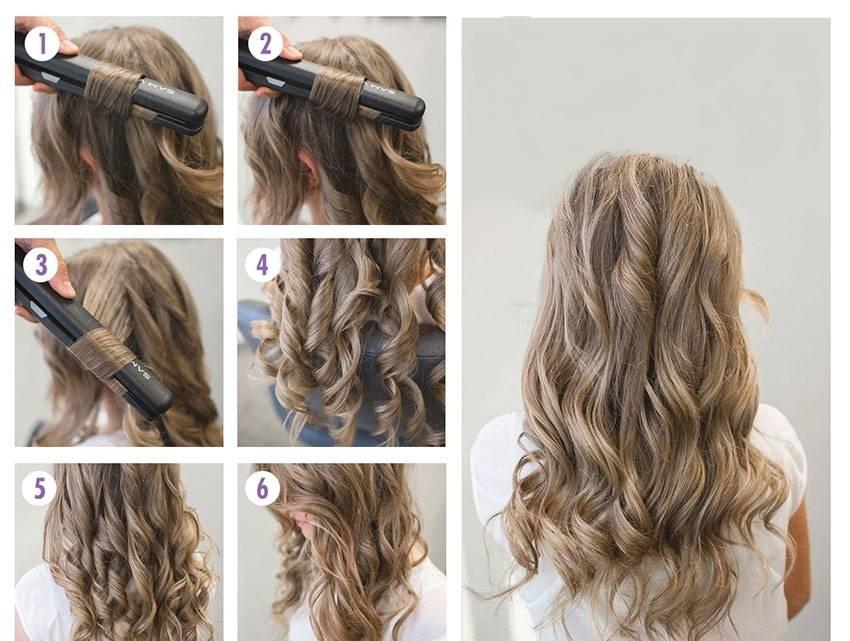 Как утюжком сделать локоны на волосах средней длины?