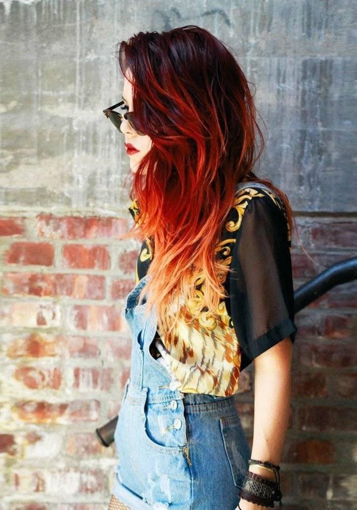 Рыже-коричневый цвет волос. фото до и после, краски, оттенки, кому идет