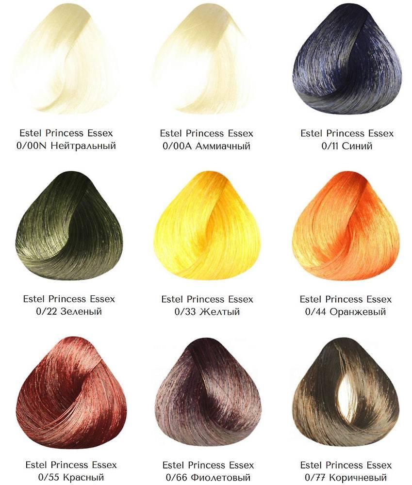 Краска для волос эстель (estel) - палитра цветов de luxe, essex, фото, отзывы