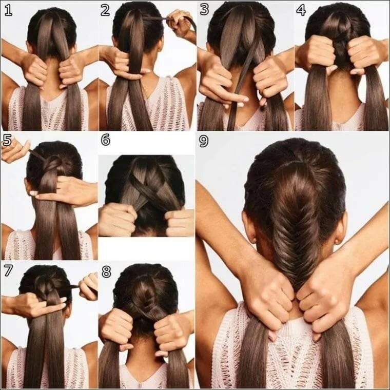 Прически на длинные волосы в домашних условиях своими руками пошагово