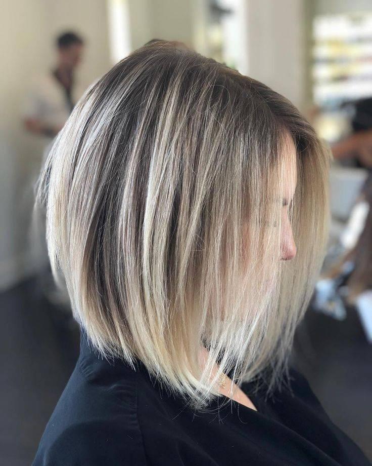 2021 колорирование на короткие темные волосы фото
