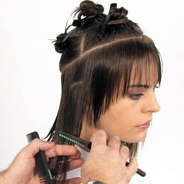 Косая рваная челка (66 фото): подойдет ли челка на бок на средние волосы? как подстричь ее самостоятельно? особенности короткой челки с рваными краями на длинные волосы