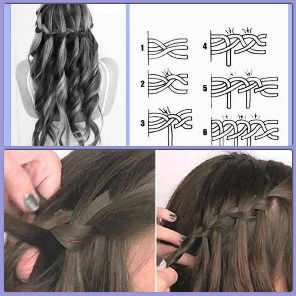 Как сделать косу водопад схема плетения