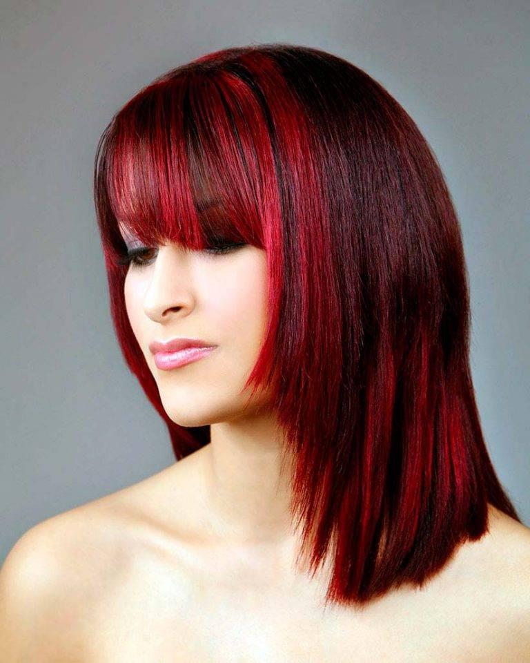 Колорирование на средние волосы (17 фото): окрашивание стрижек средней длины с челкой, окраска прямых и вьющихся волос, примеры красивых причесок