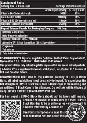 Lipo-6 black hers nutrex – сверхэффективный женский жиросжигатель