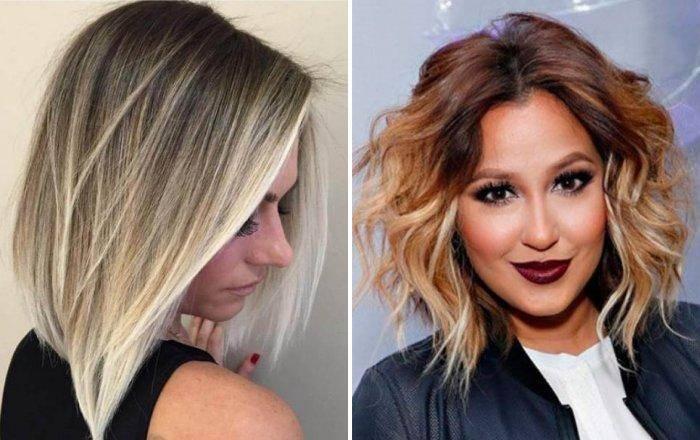 Модное окрашивание волос 2021 на короткие волосы для брюнеток: фото, техника, тенденции
