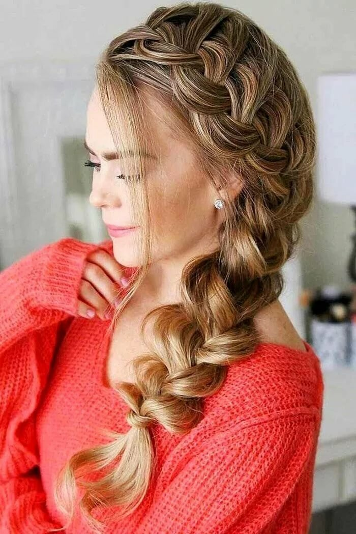 Плетение объёмных кос на длинные волосы