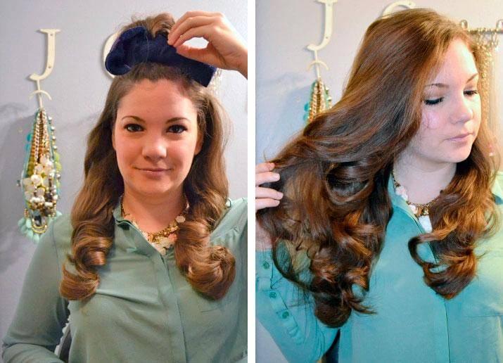 Как сделать кудри с помощью кос?