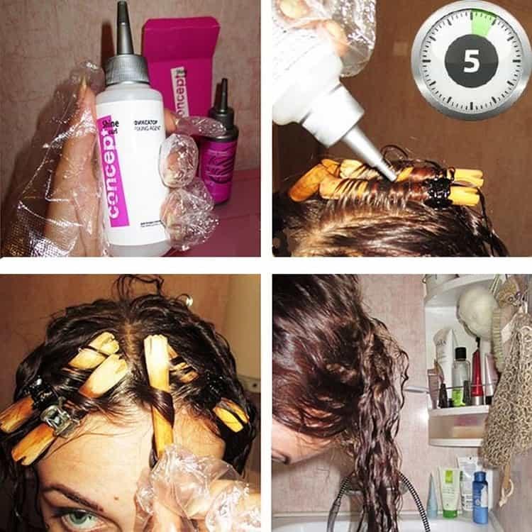 Как ухаживать за волосами после химической завивки