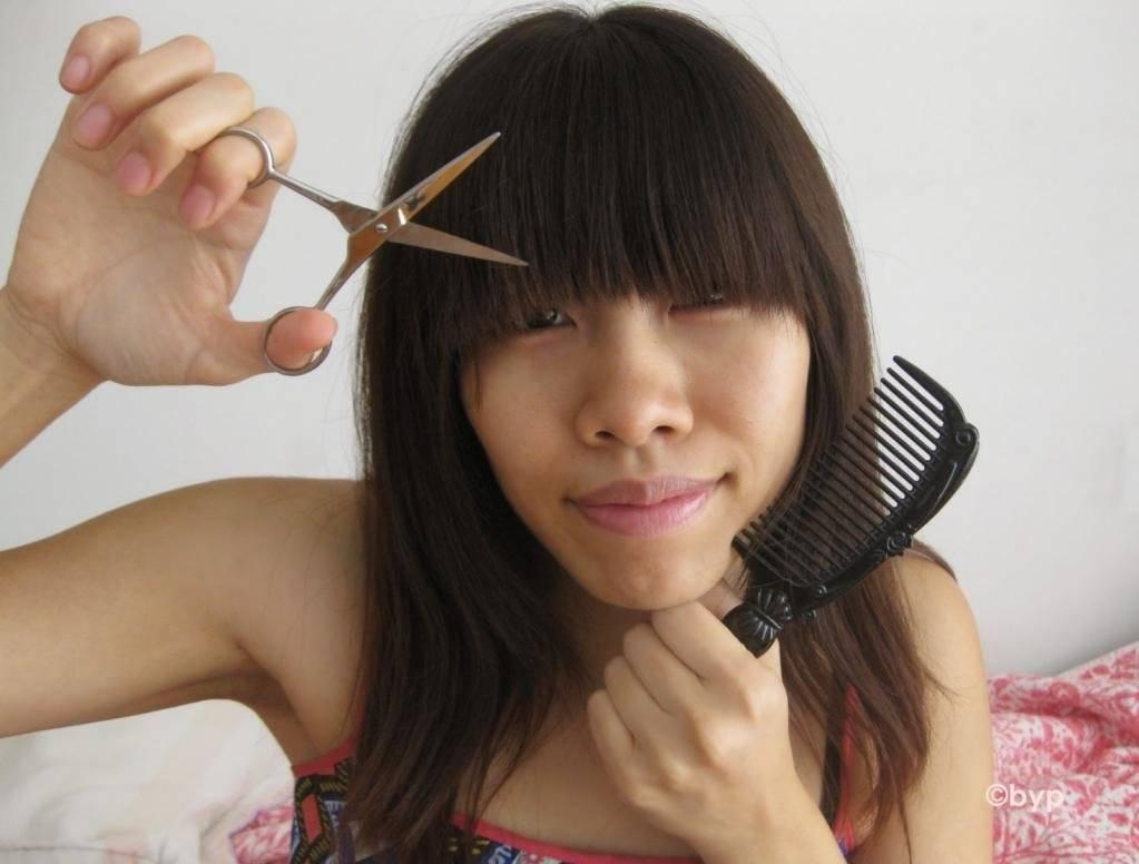 Как подстричь челку? 93 фото как правильно и красиво сделать челку самостоятельно дома? особенности стрижки челки в домашних условиях