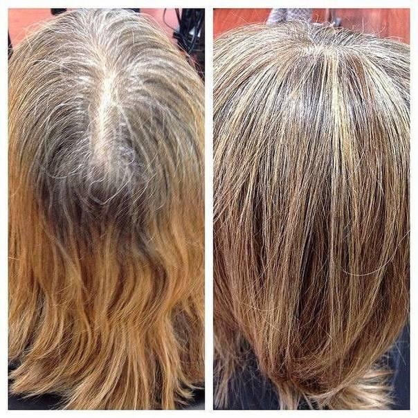 Модное окрашивание седых волос 2020