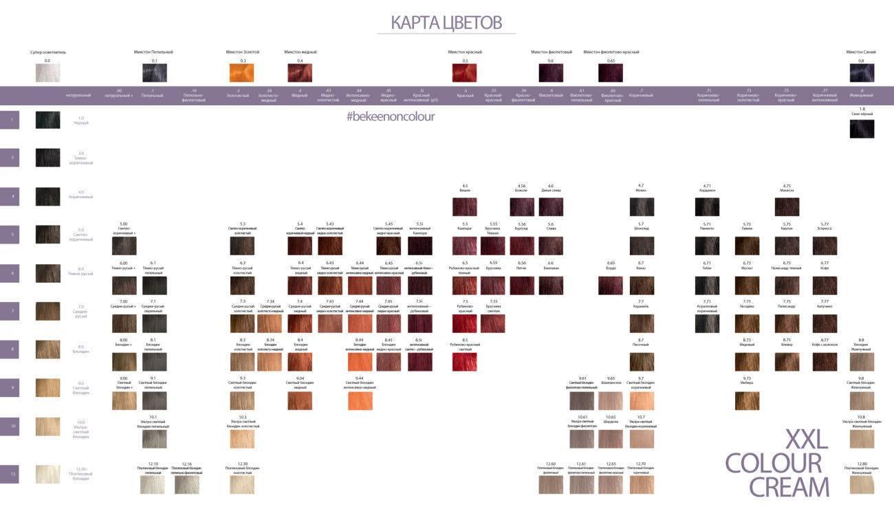 Краска для волос сьес – палитра цветов professional performance, oleo intense, mixing colors