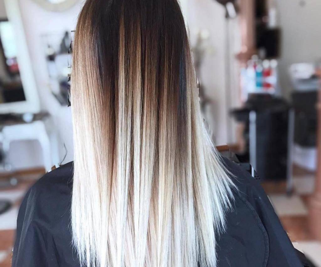 Окрашивание волос омбре на черные, светлые, короткие и средние волосы