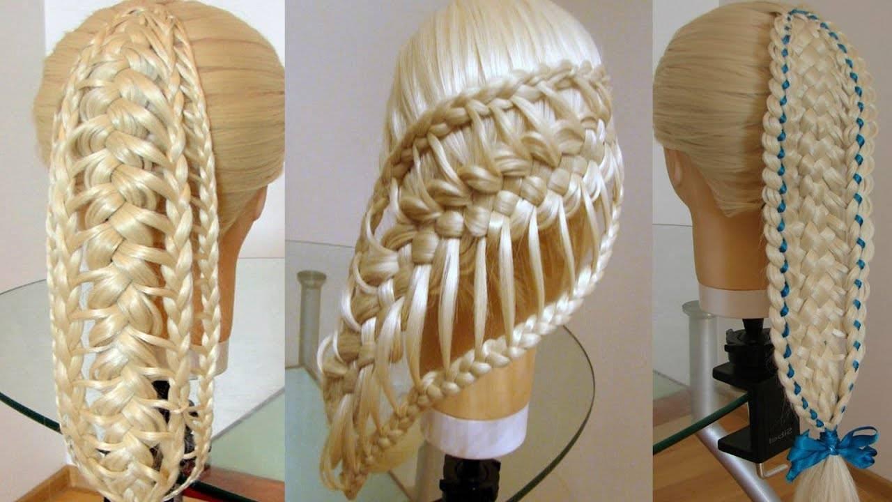 64 модные косички на волосы средней длины: фото и уроки