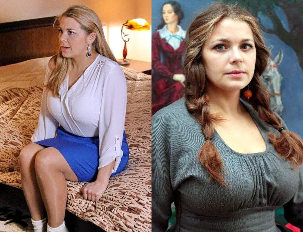 Российские актрисы с большой грудью до и после пластики. фото