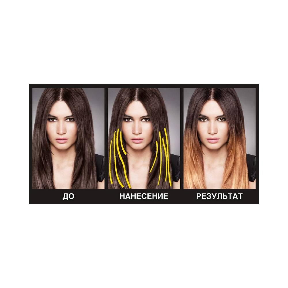 Краски для мелирования волос – фото до и после, полный обзор профессиональных средств для домашнего использования, щадящие, с расческой и др.