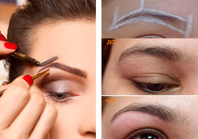 Окрашивание бровей хной: пошаговая инструкция с фото до и после