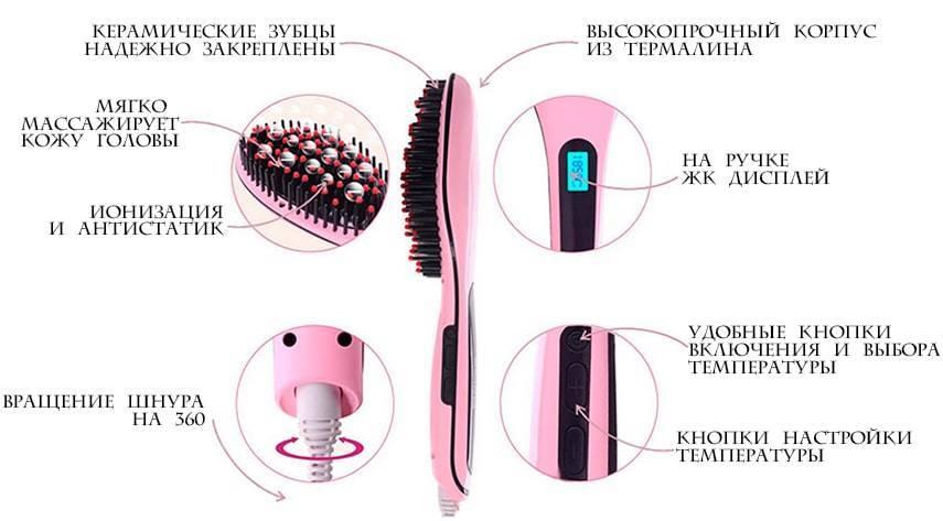 Электрорасческа для выпрямления волос fast hair straightener: как отличить оригинал от подделки, а также в чем ее польза?