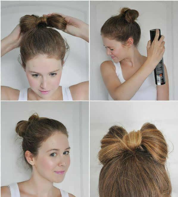 Как сделать прическу бантик из волос пошаговая фото инструкция