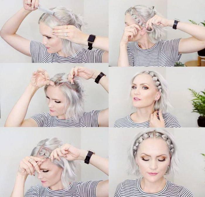 Быстрые прически на короткие волосы своими руками - пошаговые фото - уход за волосами
