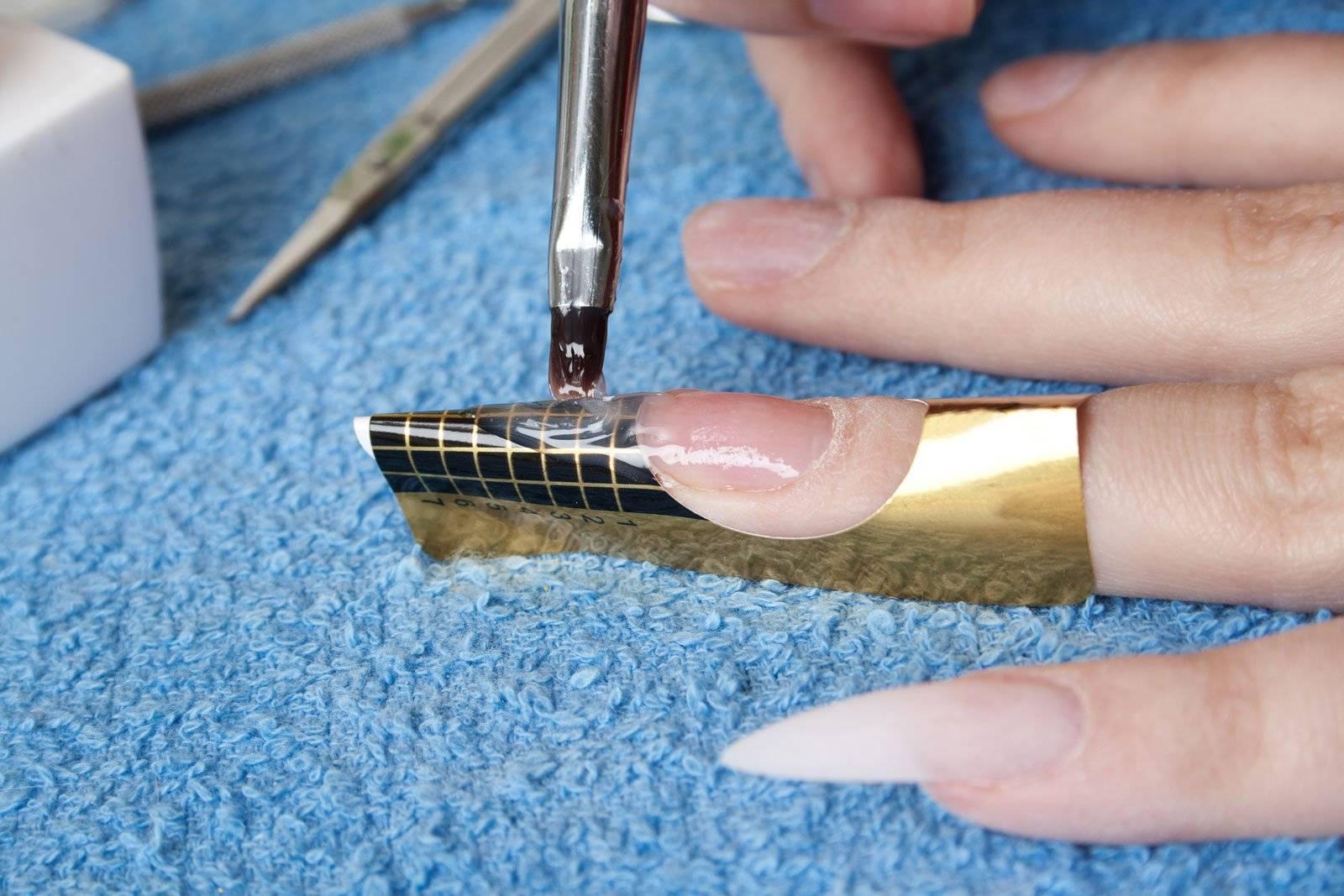 Маникюр на нарощенные ногти квадратной формы (54 фото)
