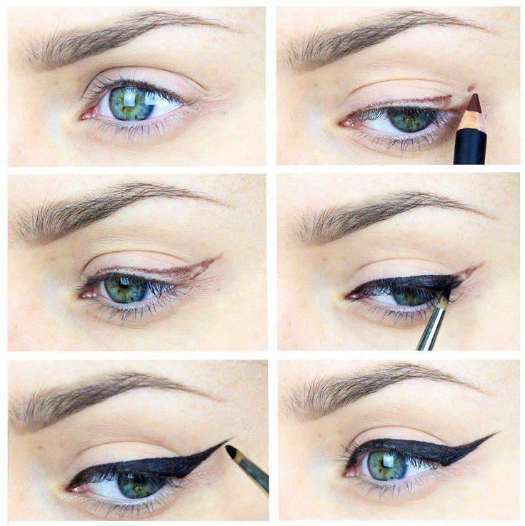 Правильные стрелки на глазах: как нарисовать пошагово. как правильно нарисовать стрелки на глазах — карандашом, подводкой? как правильно рисовать стрелки на больших глазах?