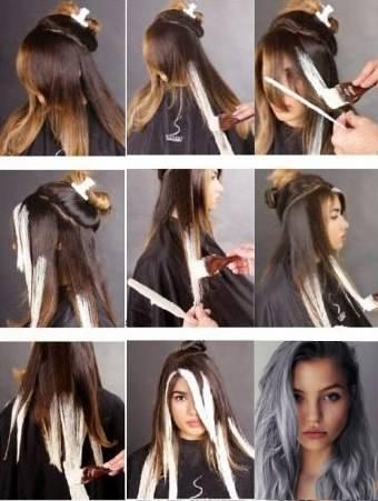 Омбре на темные волосы - 250 фото