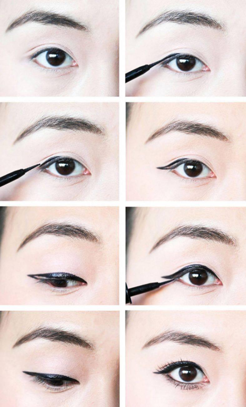Как сделать стрелки на глазах?