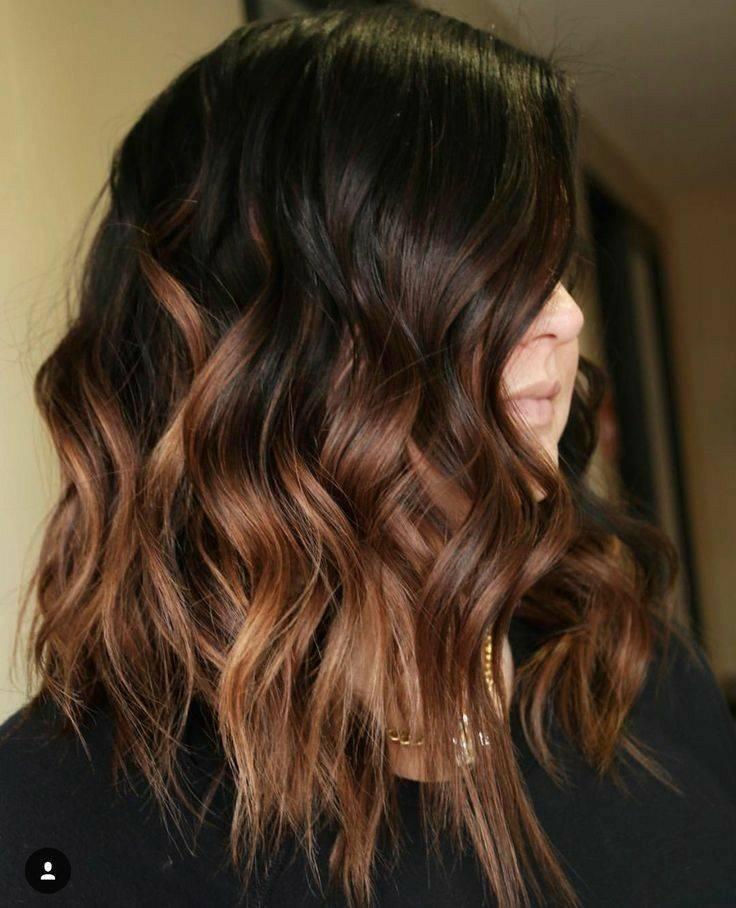 Хотите яркий и стильный образ? выбирайте рыжее омбре на темные волосы!