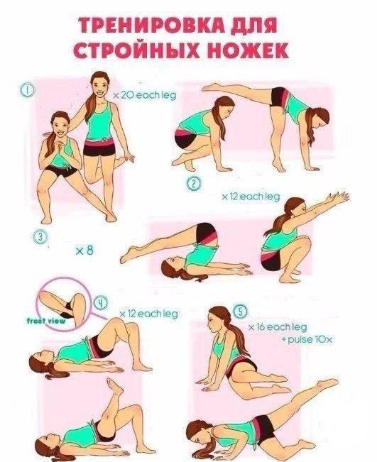 Как похудеть в ногах за неделю с помощью упражнений и диеты - allslim.ru