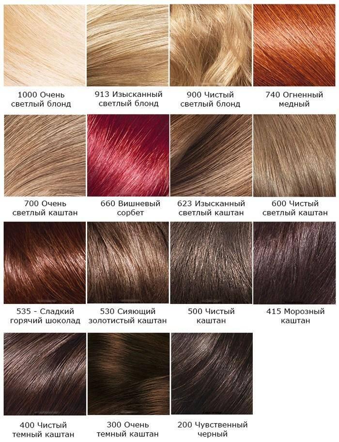 Холодные оттенки краски для волос, тона русого и каштанового цвета палитры лореаль, блонд от гарньер