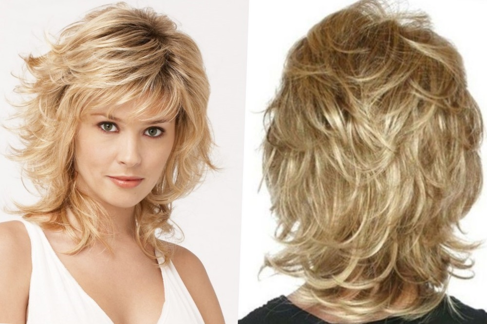 Стрижка круглый каскад на короткие, средние и длинные волосы с прямой и косой челкой, а также без нее, техника выполнения и фото