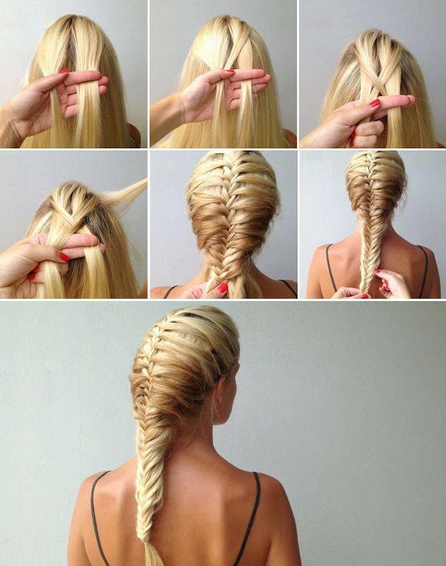 Косы на средние волосы: идеи, пошаговые фото и видео уроки по плетению самой себе