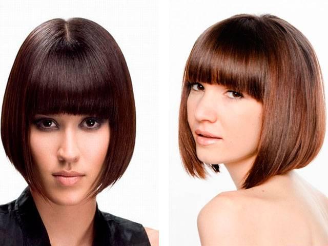 Женские стрижки на волосы до плеч с челкой и без — фото