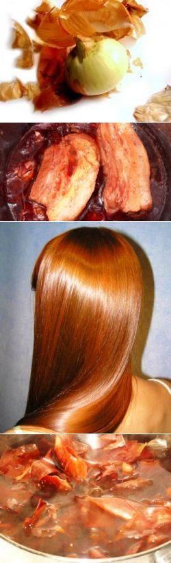 Технология и особенности окрашивания волос луковой шелухой