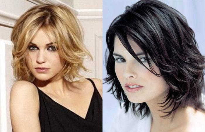 Стрижка каскад на средние волосы, разновидности и фото, вид спереди и сзади