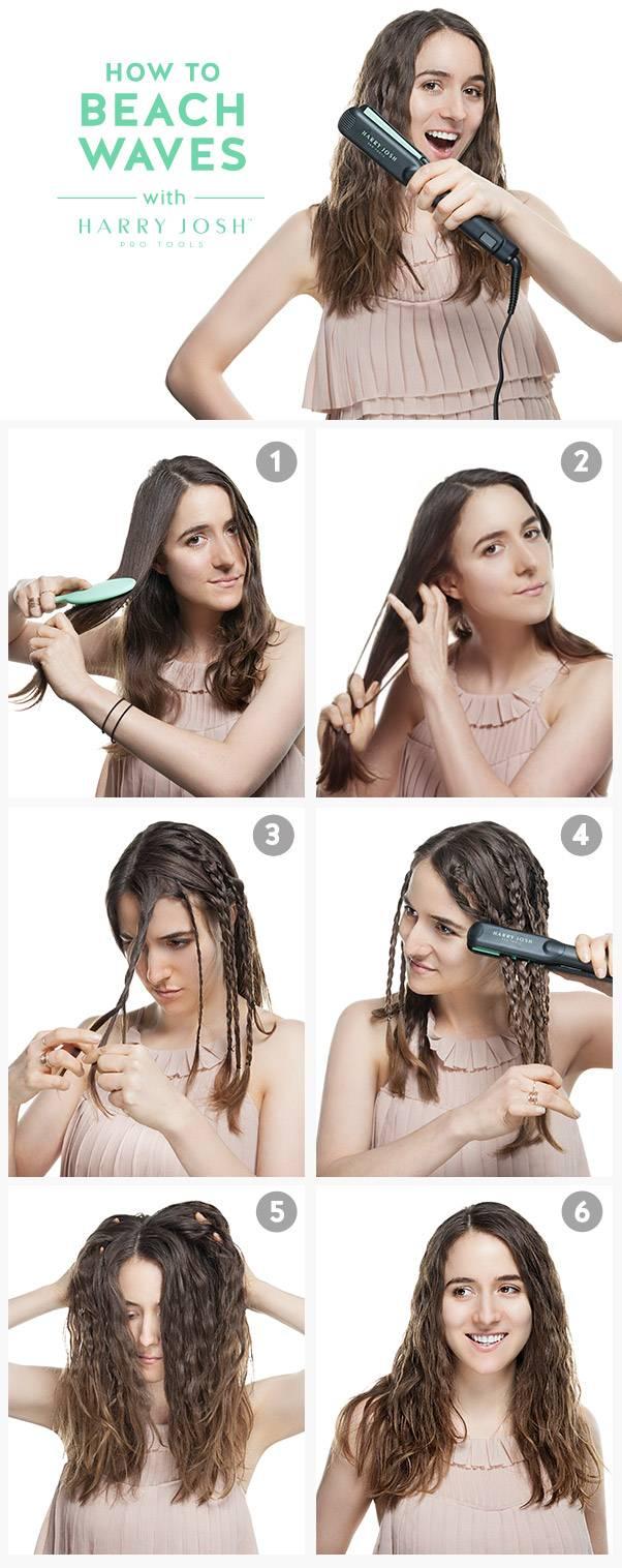 Как сделать локоны утюжком — быстрые причёски выпрямителем