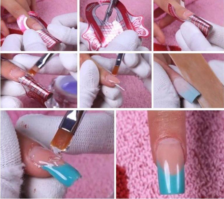 Правила укрепления ногтей акриловой пудрой под гель-лак
