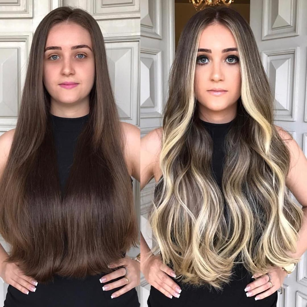 Балаяж на темные волосы – модно и актуально
