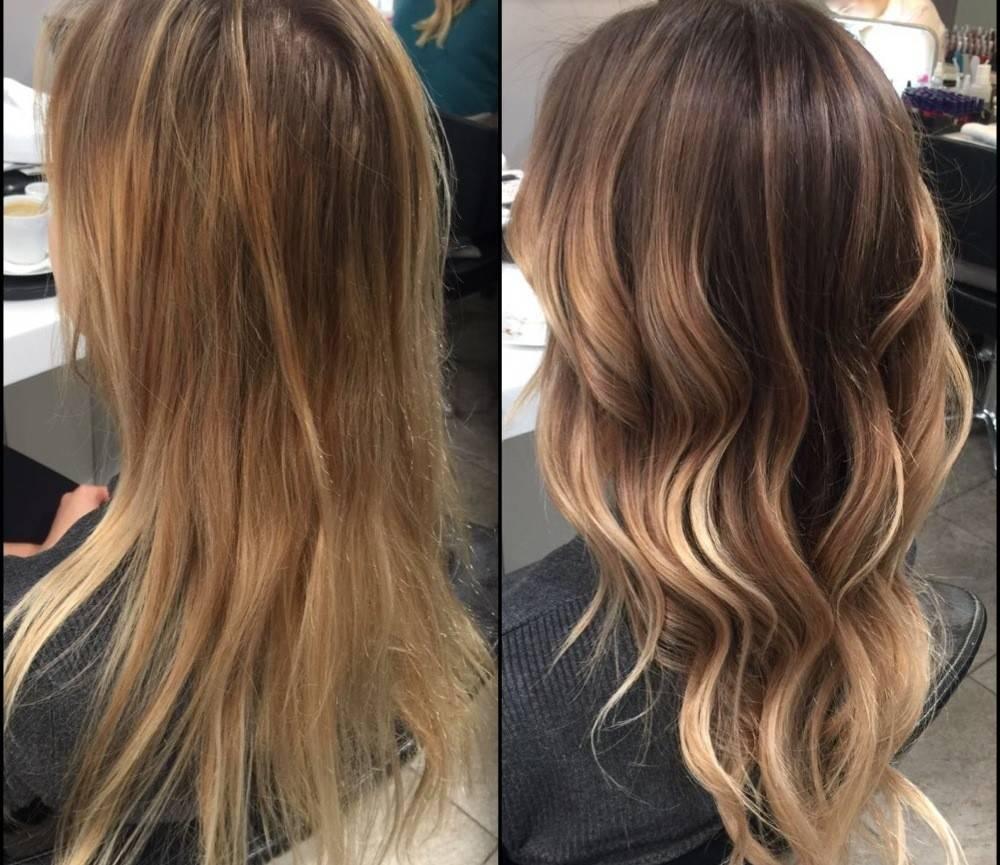 Брондирование на темные волосы — фото до и после