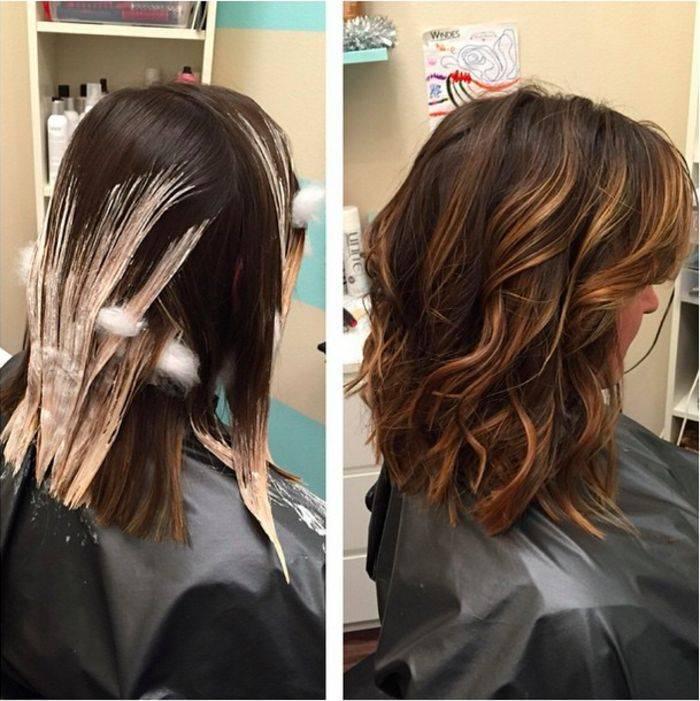 Техника окрашивания балаяж на короткие волосы, фото - уход за волосами
