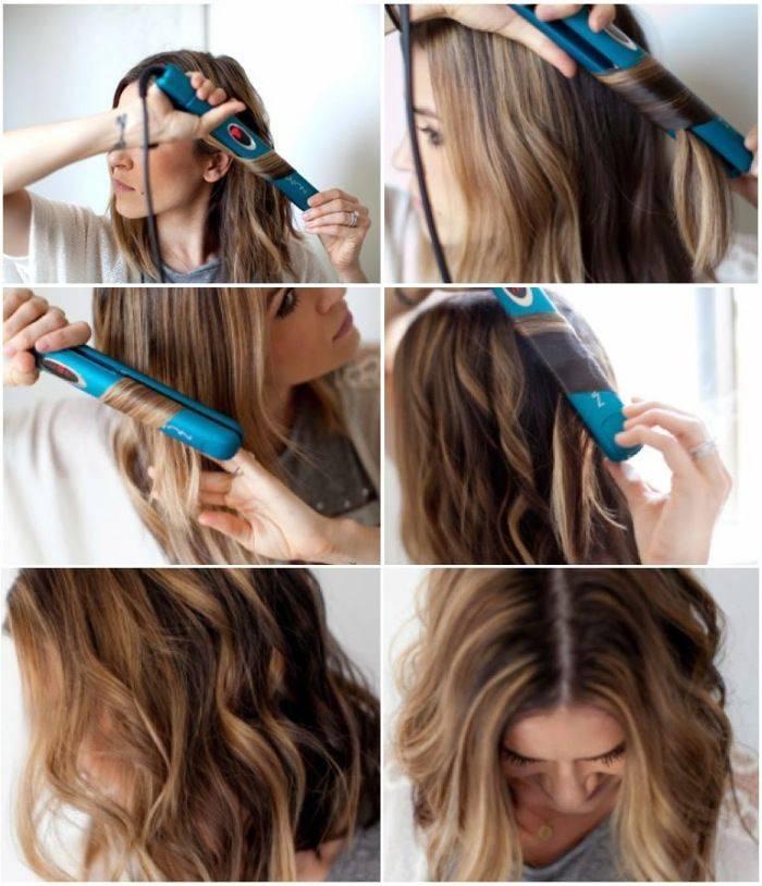Укладка утюжком на средние волосы (47 фото): как сделать прически с помощью утюжка или конусной плойки? примеры причесок с объемом