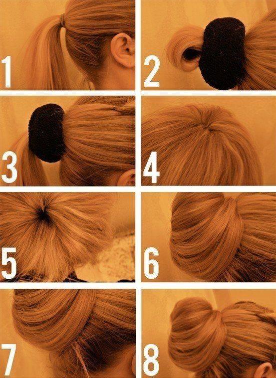 Прическа пучок: на длинные, средние, короткие волосы + 160 фото