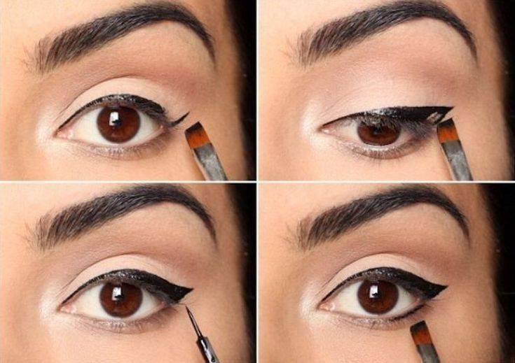 Как легко и быстро сделать идеальные стрелки на глазах