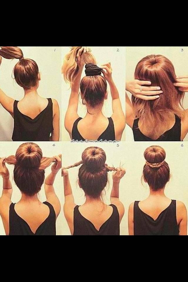 Как делать прически с бубликом - 5 способов (пошаговые фото) - уход за волосами