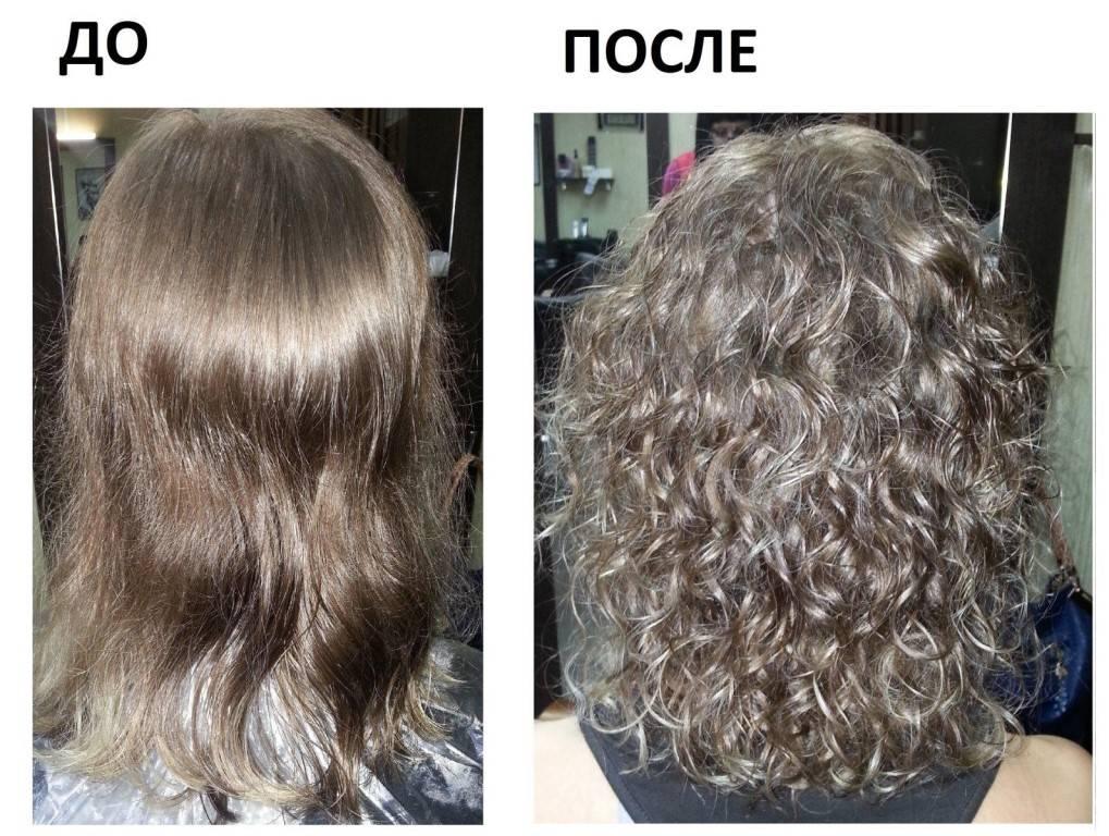 Легкая химия на средние волосы