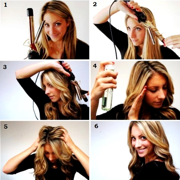 Как сделать небрежные локоны на длинные и средние волосы