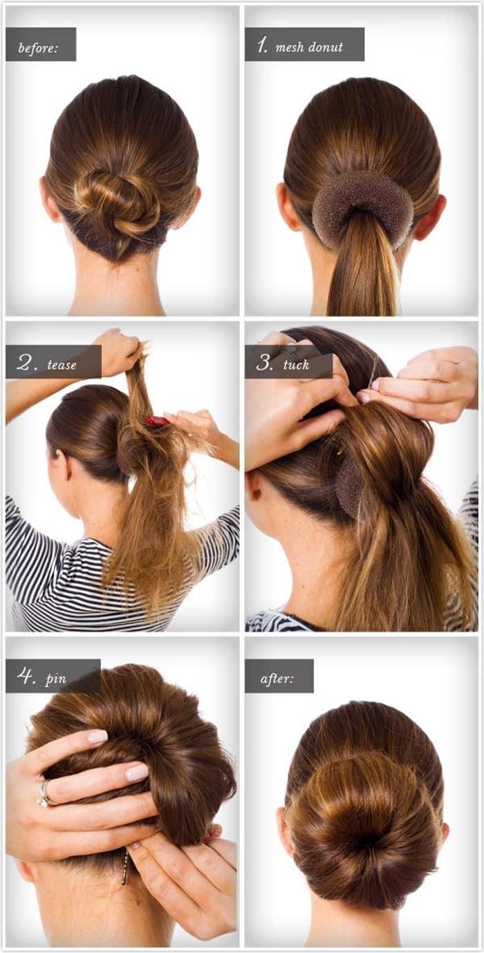 Объемный пучок (31 фото): как сделать прическу на средних, длинных и коротких волосах? кому подойдет высокий и низкий объемный пучок?