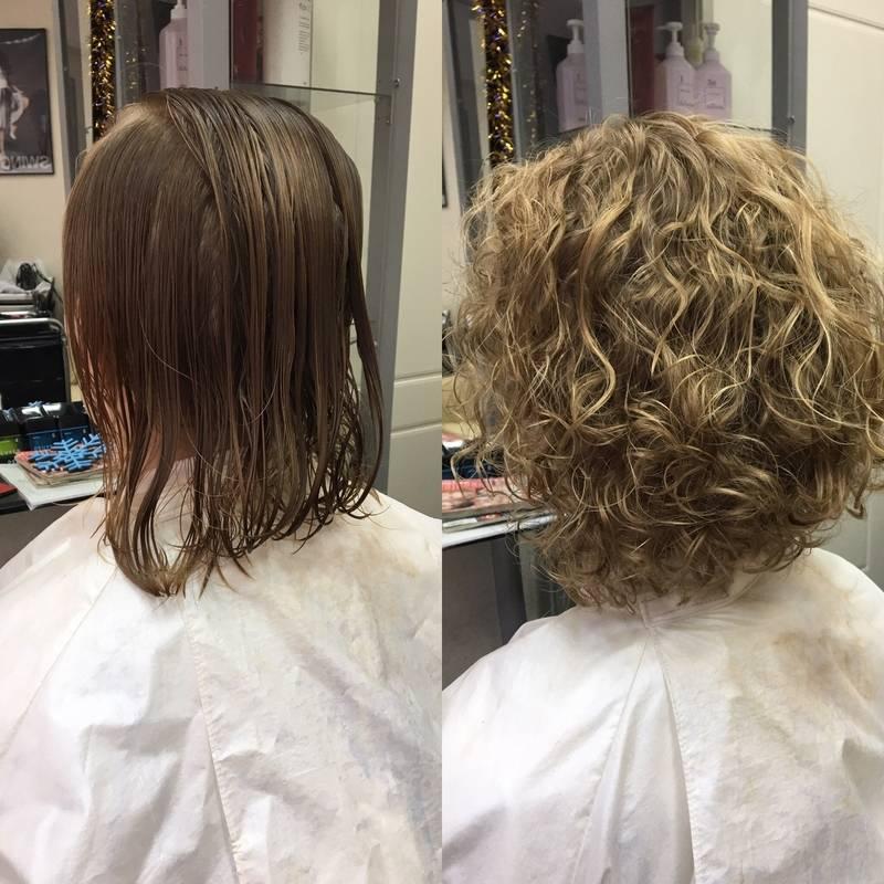 Химическая завивка волос: особенности, виды и техника выполнения