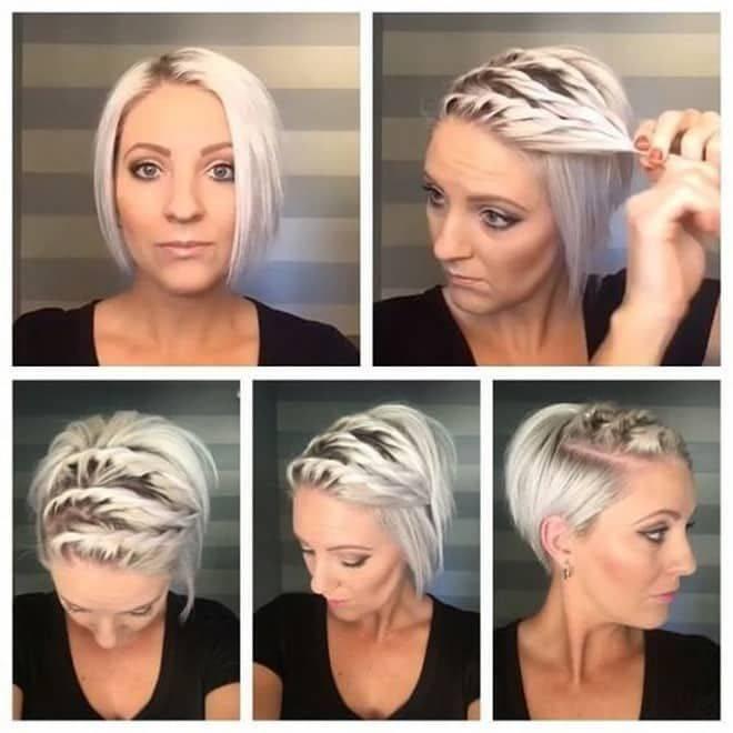 Укладка волос на короткие волосы: стрижки пикси, боб и каре, фото